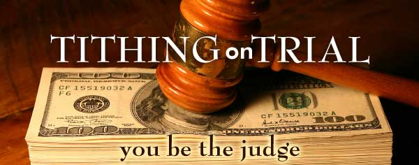 Image result for tithing on trial images